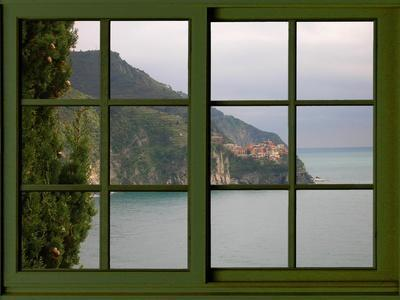 View from the Window Corniglia at Cinque Terre