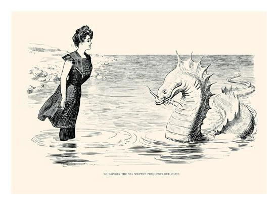 No Wonder The Sea Serpent Frequents Our Coast Posters By