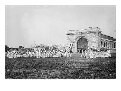 Military Drills at the Naval Academy Grounds