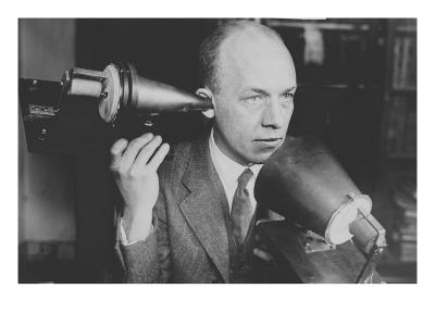 Man Hold's Bell's First Telephone