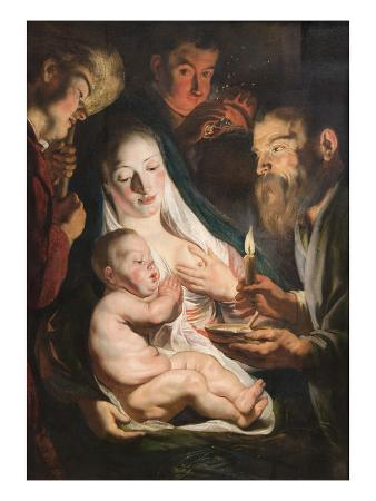 The Holy Family with Shepherds