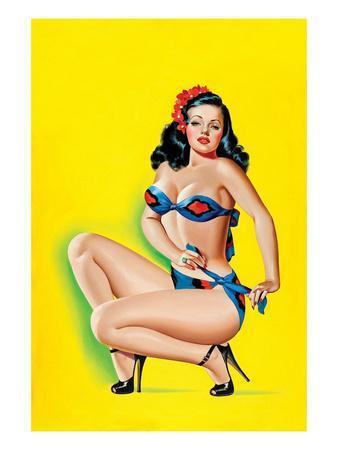 Beauty Parade Magazine; Pinup in a Bikini