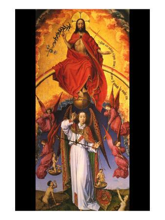 Christ with the Archangel Michael
