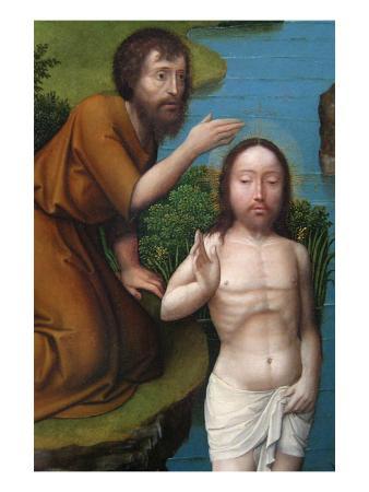 Christ Baptized in the Jordan River