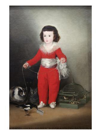 Manuel Osorio Manrique De Zuñiga, a Child with His Pets