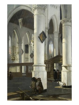 Interior of the Old Church in Delft, 1650–52