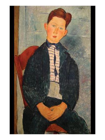 Boy in Striped Sweater