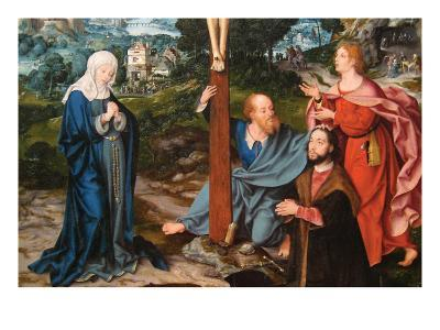 The Crucifixion with Saints and a Donor, Triptych, Ca. 1520