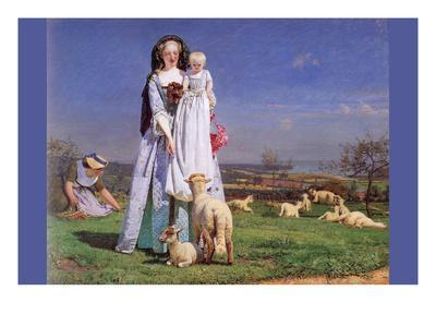 Pretty Baa Lambs Poster Ford Madox Brown Allposters Com