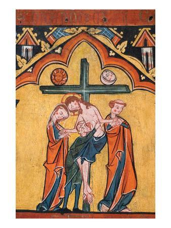 Tempera on Wood of the Descent from the Cross