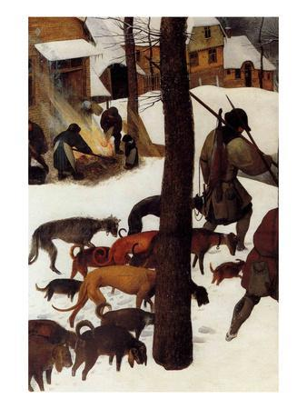 Hunters in the Snow - Detail