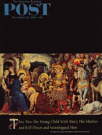 """""""Adoration of the Magi"""" Saturday Evening Post Cover, December 26, 1959"""