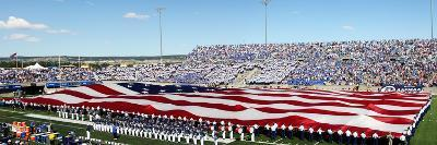 Air Force Academy - American Flag Spans the Field at Falcon Stadium