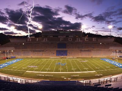 Air Force Academy - Lightening over Falcon Stadium