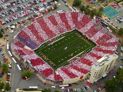 University of Arkansas - War Memorial Aerial View