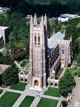 Duke University - Duke Chapel Aerial View