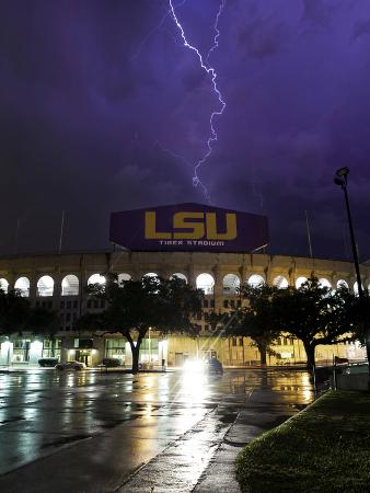 Louisiana State University - Tiger Stadium Lightning