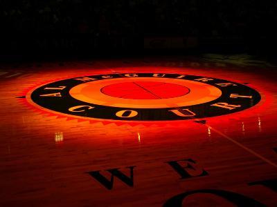 Marquette University - Center Court Glows Marquette Eagles