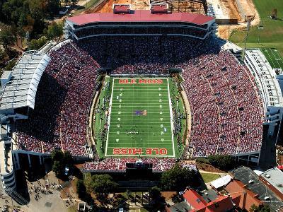 University of Mississippi (Ole Miss) - Vaught-Hemingway Stadium Aerial View