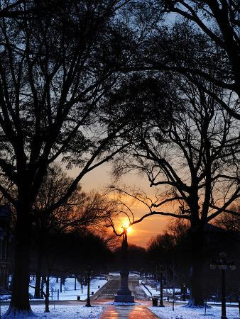 University of Mississippi (Ole Miss) - Snowy Sunset in Oxford