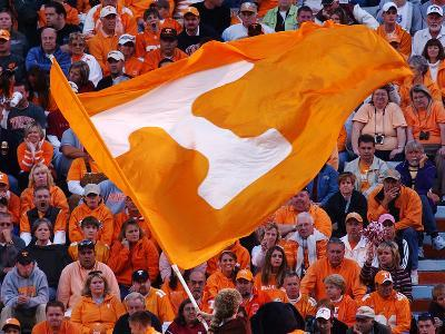University of Tennessee - Tennessee Flag Flies on Game Day at Neyland Stadium