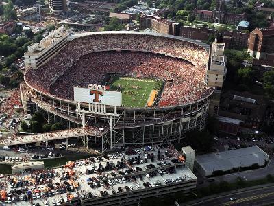 University of Tennessee - Aerial View of a Full Neyland Stadium