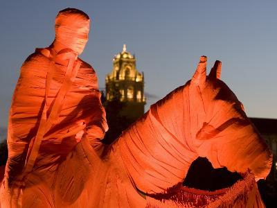 Texas Tech University - Old Will Is Wrapped in Red