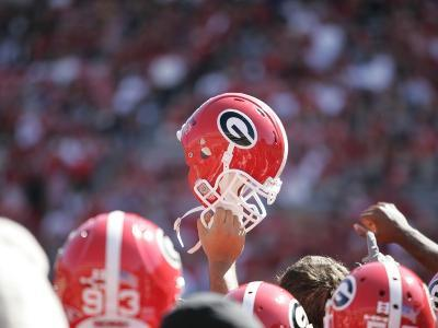 University of Georgia - Georgia Football Helmet Raised High