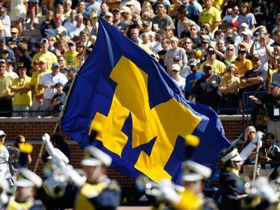 University of Michigan - Michigan Flag Flies on Game Day
