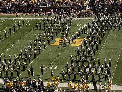 University of Michigan - Michigan Band Forms Block M