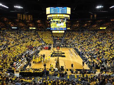 University of Michigan - The Crisler Center on Game Day