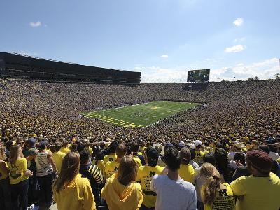 University of Michigan - Blue Skies over Michigan Stadium