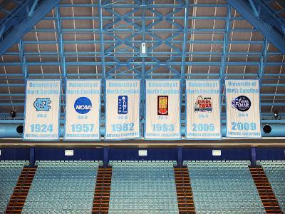 University of North Carolina - Dean Smith Center Championship Banner Wall Mural