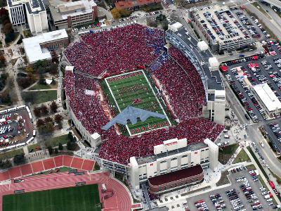 University of Nebraska - Stealth Bomber over Memorial Stadium