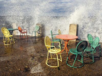 University of Wisconsin - Waves Crash on the Union Terrace