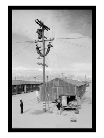 Line Crew at Work in Manzanar