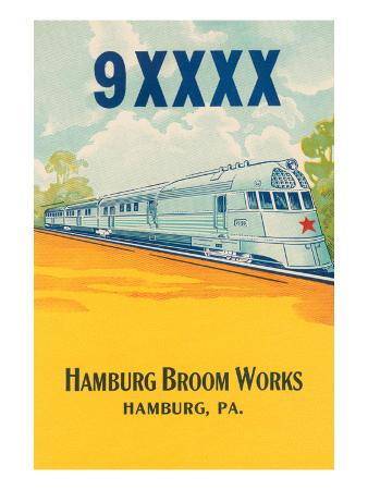 9Xxxx Bullet Train Broom Label