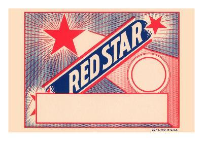 Red Star Broom Label