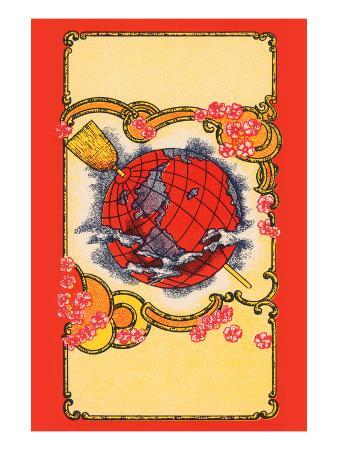 Globe Broom Label