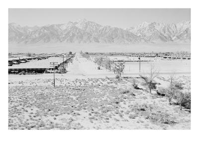 Manzanar from Guard Tower, View West (Sierra Nevada in Background),