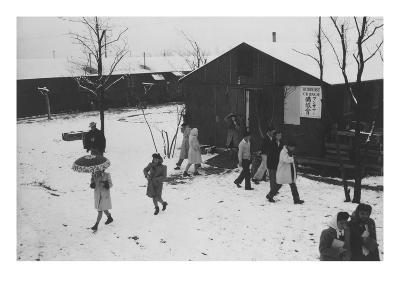 People Leaving Buddhist Church, Winter Ii