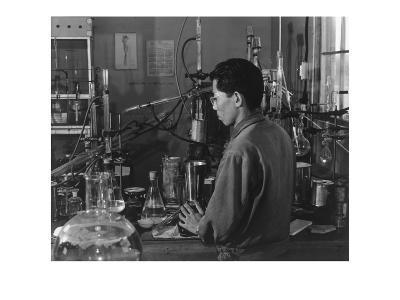 Frank Hirosama [I.E., Hirosawa] in Laboratory
