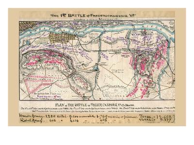 Plan of the Battle of Fredericksburg