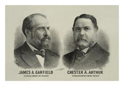 James A. Garfield and Chester A. Arthur - Republican Candidates for President and Vice President