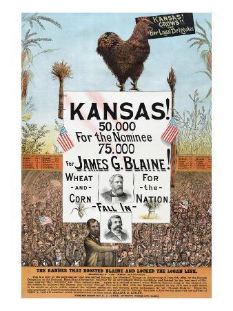 Kansas! for James G Blaine.