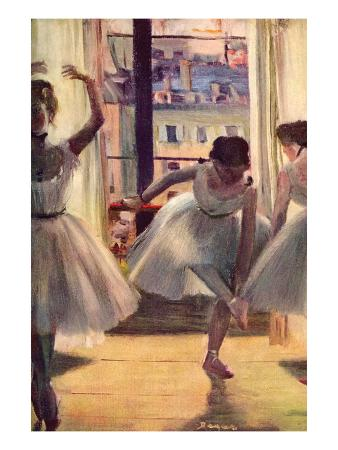 Three Dancers in a Practice Room