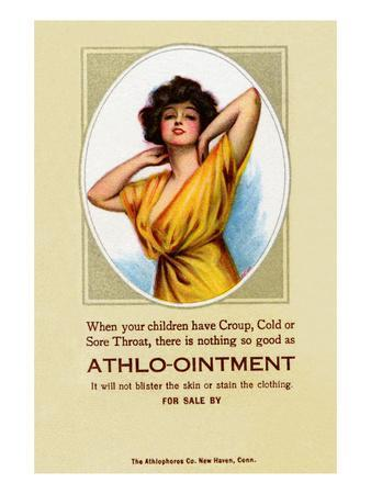 Athlo - Ointment for Croup, Cold or Sore Throat