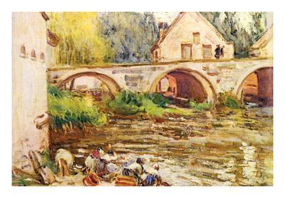The Laundresses by Moret by Alfred Sisley.Jpg