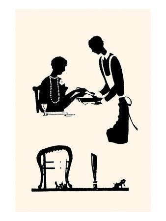 Homemaker Being Served by a Maid
