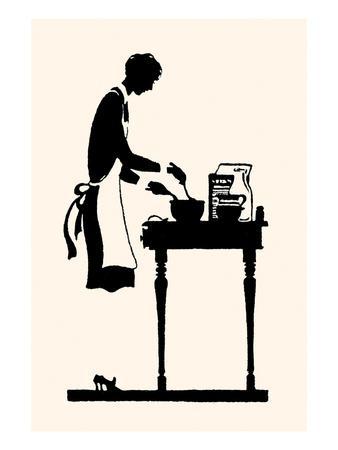Homemaker Mixes Recipe in a Bowl